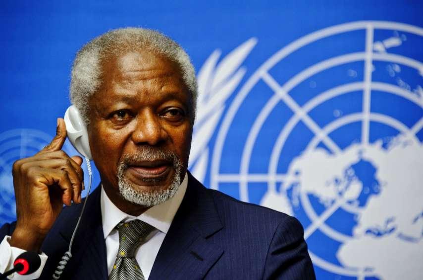 Les dirigeants des cinq continents ont loué l'homme qui avait fait de la paix dans le monde l'œuvre de sa vie.  AFP