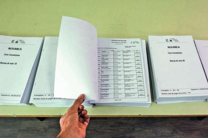 Selon le mouvement FLNKS, une majorité de personnes inscrites sur la liste référendaire est Mélanésienne. Photo Archives LNC
