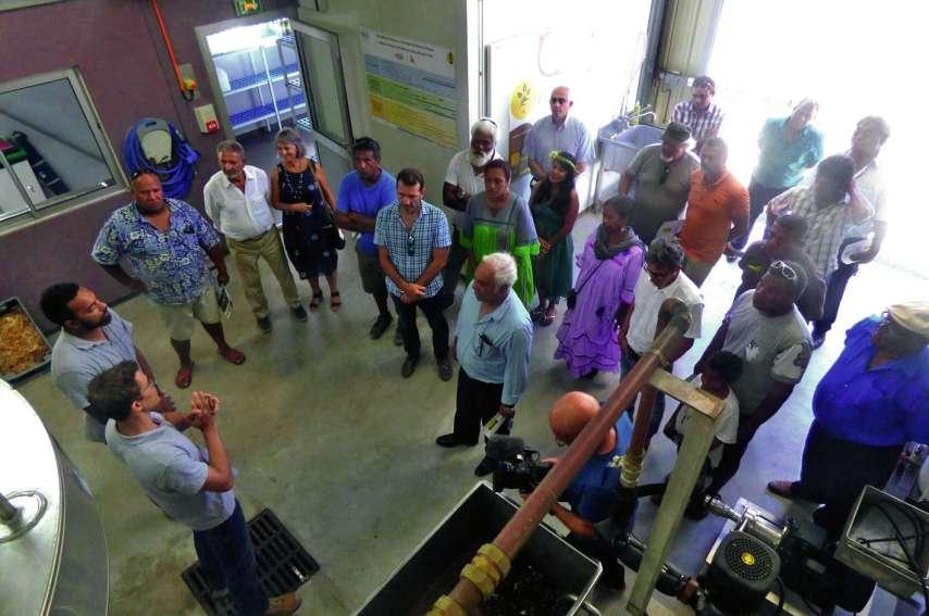 Tous les partenaires, dont le directeur de la société néo-zélandaise United Fisheries, étaient présents mercredi pour l'inauguration de l'UTDP. Photos M. G.