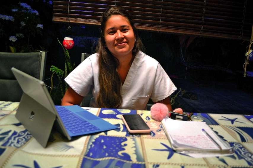 Dans le métier d'infirmière, Elodie apprécie le côté technique et le rapport avec les patients.Photo Aurélien Pol
