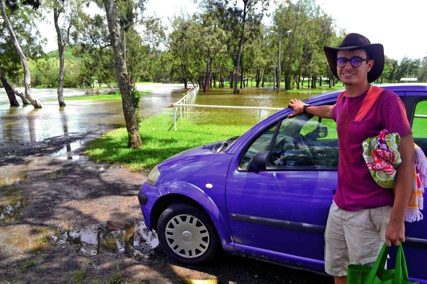 Hier, vers 11 heures, Antoine est allé pique-niquer au parc Fayard. Par précaution, il a garé sa voiture à l'entrée du site. Dans certains points, la hauteur de l'eau avoisinait les 30 centimètres.Photos Aurélien Pol