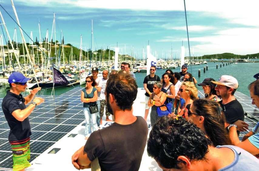 Il fallait réserver sa place longtemps en avance pour grimper sur le bateau solaire ce week-end.Photos C.G.