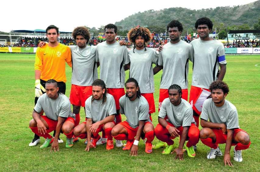 Aux Jeux de 2015 à Port Moresby, la sélection U23 avait remporté l'or en battant en finale Tahiti 2 à 0. Photo Archives LNC