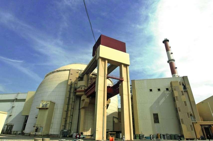 La centrale nucléaire de Bushehr, construite en Russie, dans le sud de l'Iran. Téhéran a mis en garde contre les conséquences de la « guerre économique » menée par Washington.Photo AFP