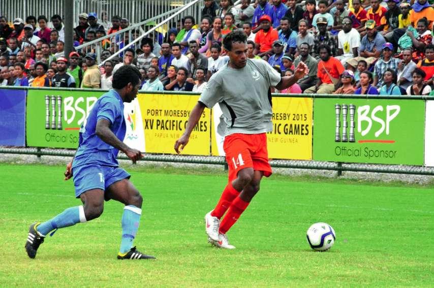 Nathanaël Hmaen (en gris) était du groupe vainqueur des Jeux 2015 en Papouasie. Photo archives LNC  et OFC