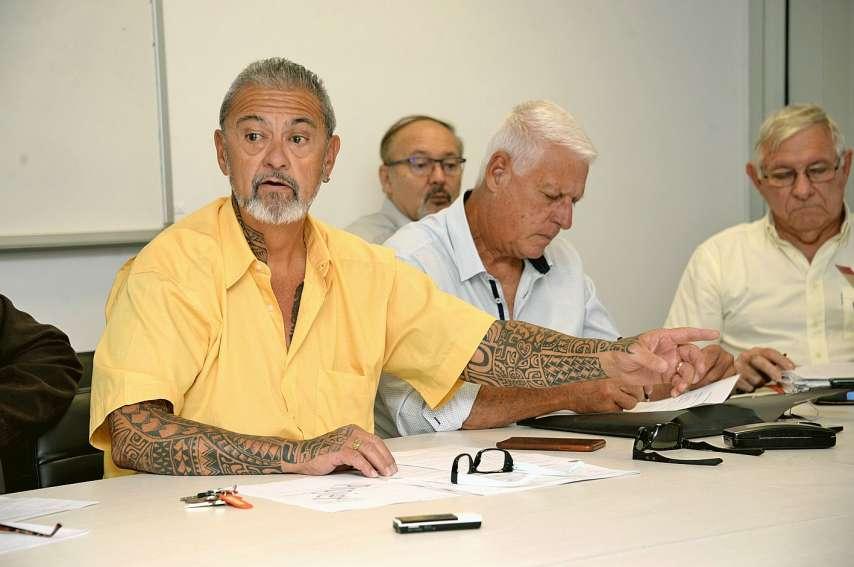 L'intersyndicale des retraités de Nouvelle-Calédonie tenait, hier matin, une conférence de presse dans les locaux de l'Usoenc, à Ducos. Photo Thierry Perron