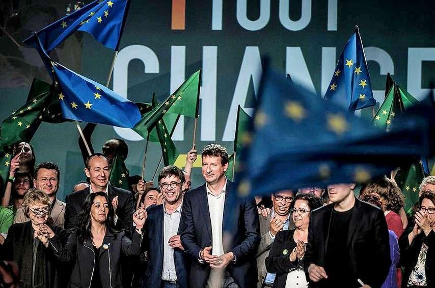 Europe écologie les verts affiche une posture conquérante à l'approche des municipales depuis sa percée aux européennes.  Photo Jeff Pachoud/AFP