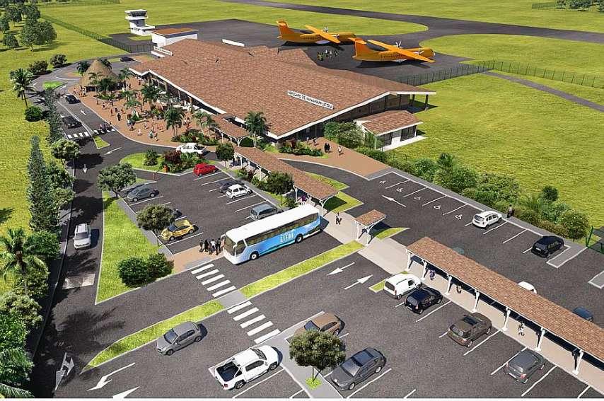 La prévisualisation de la future aérogare de Lifou-Wanaham qui sera opérationnelle à l'horizon 2022.Illustration DAC