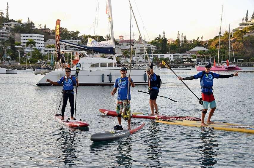 Ils seront six à prendre le départ lundi. Ils feront aussi le retour plus tranquillement avec des pauses pour nettoyer les îlots et les baies. Photo Archives LNC
