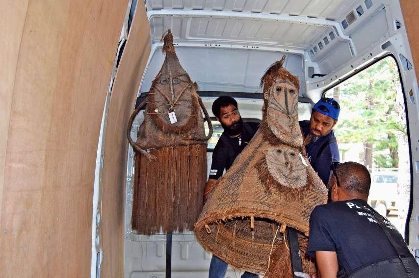 Les dernières œuvres des salles d'exposition permanente du musée viennent d'être déménagées. Photos Anthony Tejero