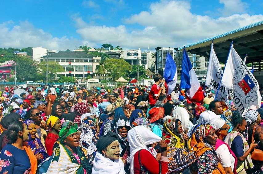 En mars 2018, Mayotte avait été le théâtre de nombreuses manifestations.Photo AFP