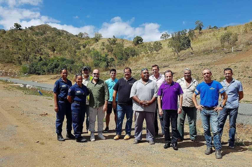 Les principaux acteurs du projet ont réceptionné jeudi le chantier. Photo B.B.L.