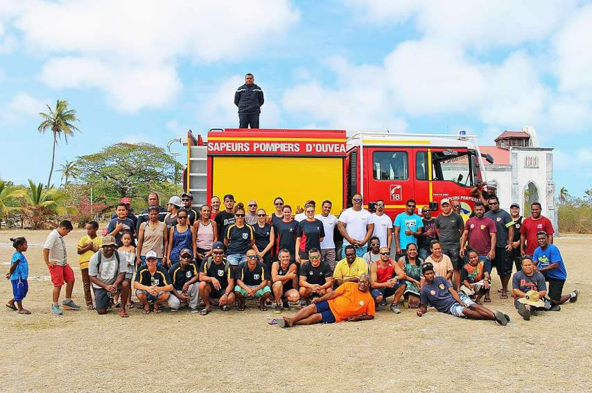 Etaient présents, samedi, un pompier de la Sécurité civile ainsi que des délégations des pompiers de Nouméa, de La Tontouta, de Dumbéa, de l\'île des Pins, de Bourail, de Canala, de Païta et de La Foa.