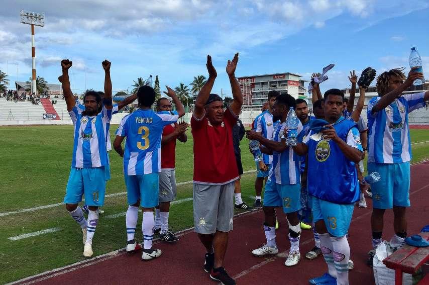 Les joueurs de Hienghène ont gagné l'an passé le championnat, la Coupe et la Ligue des champions. Photo archives LNC