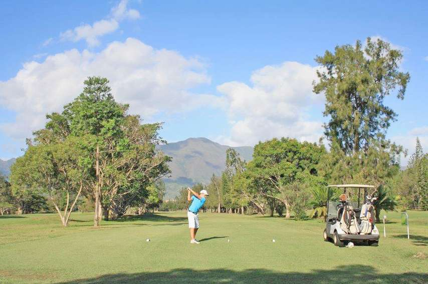 Les neuf premiers trous du golf ont ouvert en 1990, et les neuf autres un an plus tard.Photos B.B. Lion