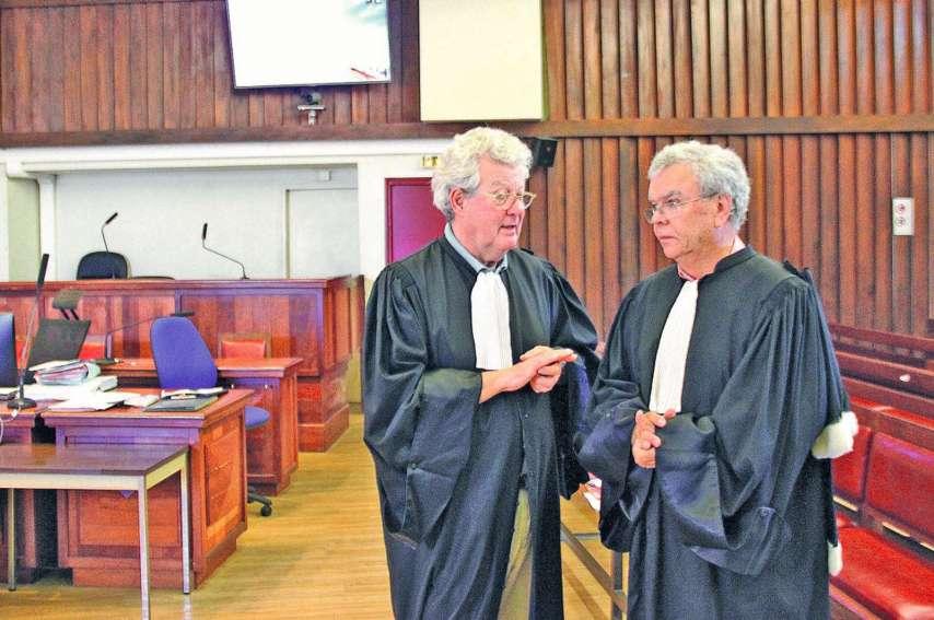 Les avocats Mes Delarue et Milliard accusent un policier d'être à l'origine d'un faux procès-verbal. Archives LNC