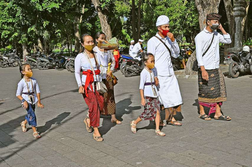 Le gouverneur de Bali s'est exprimé samedi, au cours d'une cérémonie religieuse, à Denpasar.Photo AFP