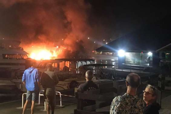 Un incendie en cours à Port Moselle