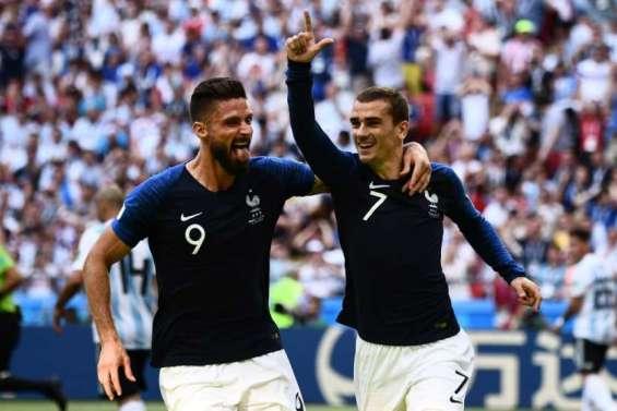 France et Argentine 1 à 1 à la pause en 8e de finale