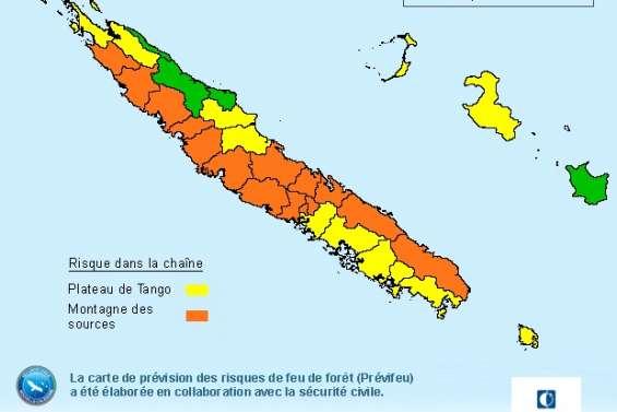 Seize communes placées en risque très élevé de feu de forêt