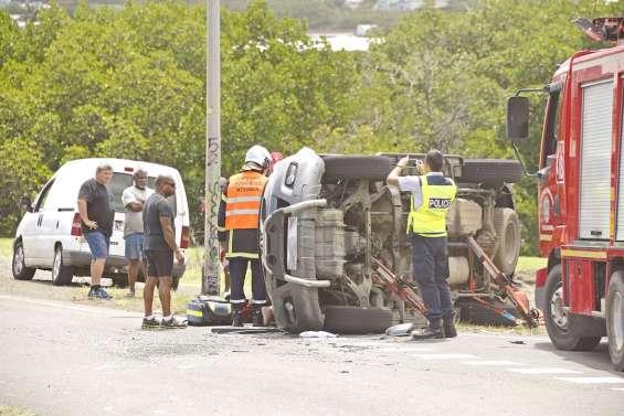[Maj 14h30] Accident de la circulation à l'échangeur de Rivière Salée