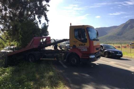Sortie de route à l'entrée nord de Koné, pas de blessé