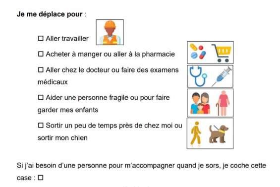 Une attestation de déplacement spécifique pour les personnes en situation de handicap