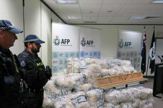 Australie : Saisie record de 903 kg de méthamphétamine