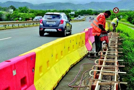 Travaux de mise en conformité des glissières de sécurité sur la VE2