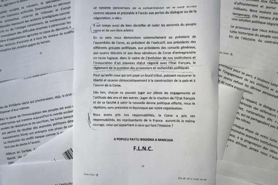 Corse: le FLNC du 22 octobre annonce la