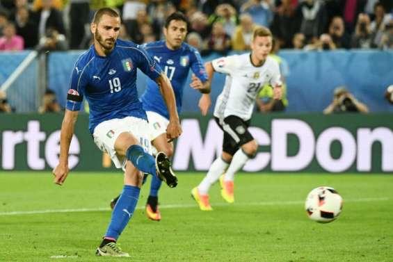 Euro-2016: Bonucci égalise pour l'Italie contre l'Allemagne 1-1