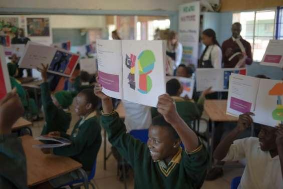 Soweto: sur les pas de Matisse, des enfants