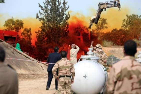 Libye: les derniers stocks d'armes chimiques transportés hors du pays