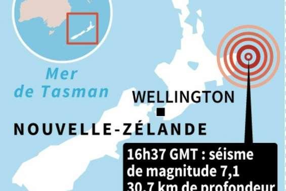 Nouvelle-Zélande : fort tremblement de terre de magnitude 7,1