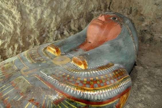 Egypte: découverte d'une momie intacte près de Louxor