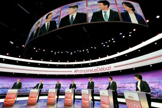 Primaire PS: 2e round télévisé pour les sept candidats