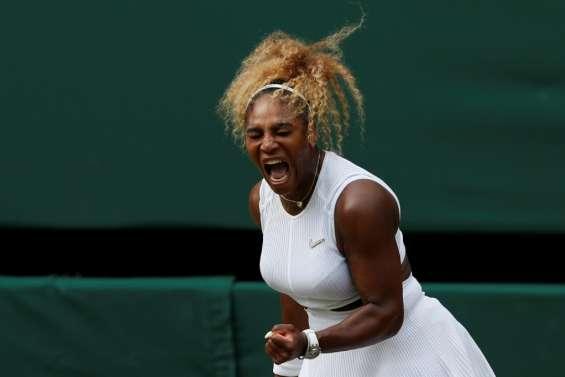 Wimbledon: Serena Williams en demies, à deux victoires d'égaler le record en Grand Chelem