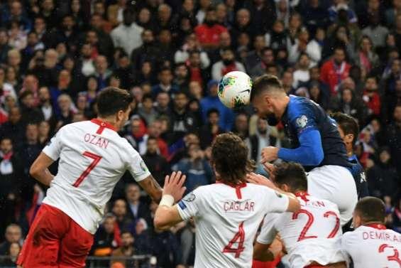 -2020: la France concède le nul contre la Turquie 1-1 et devra patienter