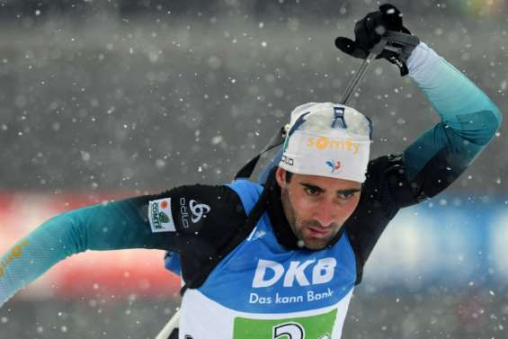 Biathlon: Martin Fourcade remporte la poursuite de Ruhpolding, 4e victoire d'affilée