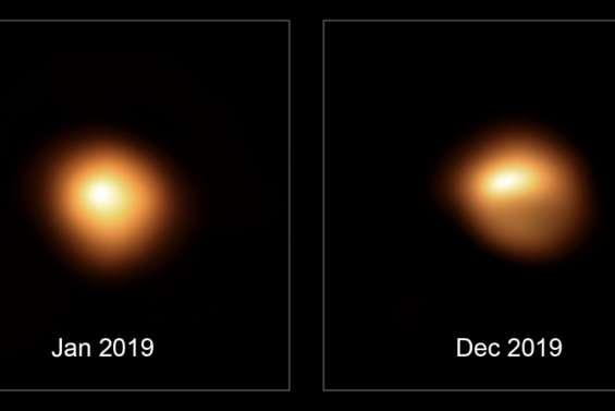 L'étoile Bételgeuse est toujours bien pâle