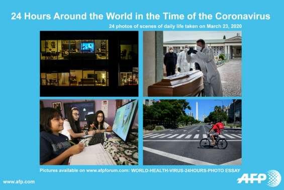 La vie sous coronavirus: 24 heures dans le monde