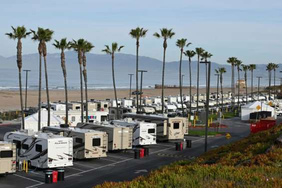Coronavirus: camping-cars avec vue sur mer pour isoler les SDF
