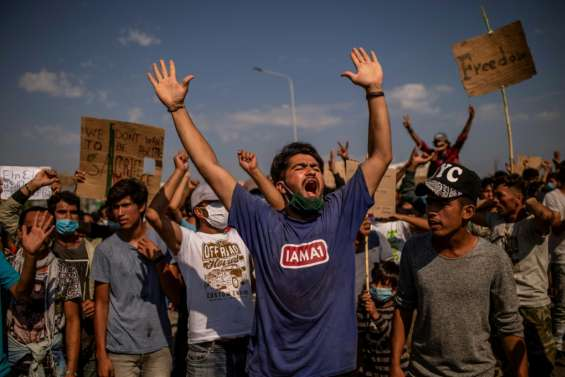 A Lesbos, malgré les promesses les rescapés de Moria ne veulent pas d'un nouveau camp