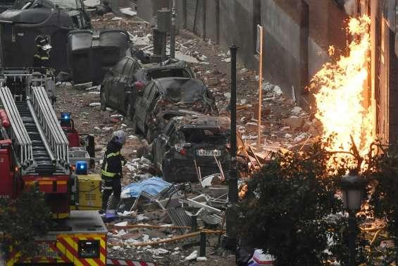 Une explosion due au gaz dévaste une rue de Madrid : au moins trois morts et un disparu