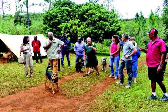 Province et ville en visite dans les camps de vacances