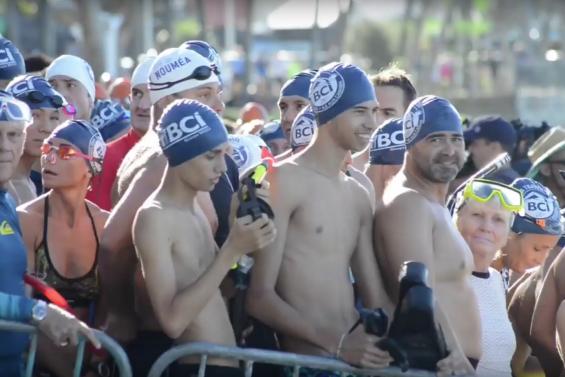 [VIDEO] La traversée de la BCI, au plus près des nageurs