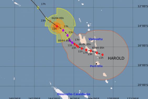 Le cyclone Harold devrait frapper de plein fouet le nord du Vanuatu