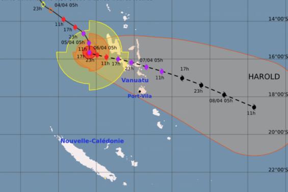 Cyclone Harold : la Vanuatu en alerte maximale