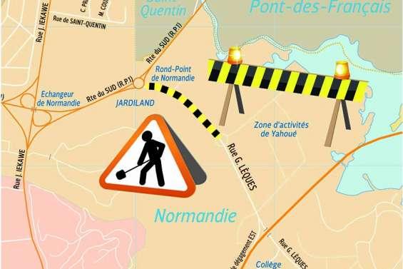 Une portion de la rue Georges-Lèques en travaux jusqu'en mars 2021