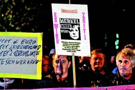 Merkel n'est pas la bienvenue à Chemnitz